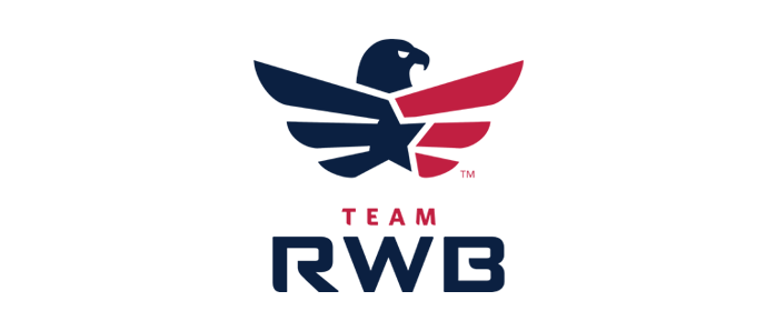 Team Red, White and Blue's logo.