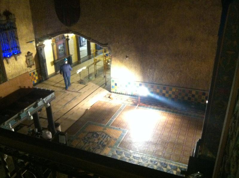 The interior lobby awaits restoration