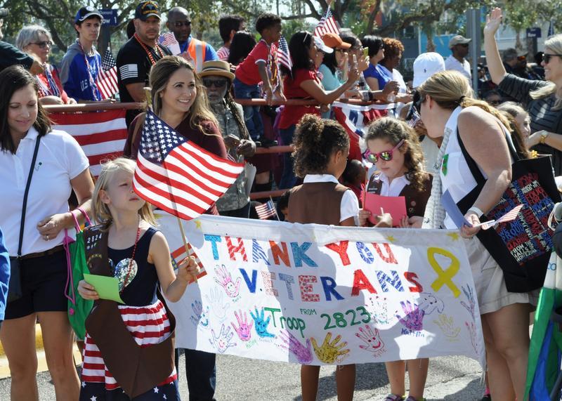 The 2016 Veterans' Day Parade at James A. Haley VA Hospital.