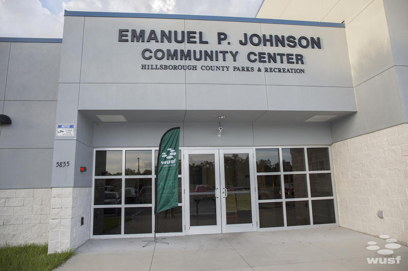 The Emmanuel P. Johnson Community Center, named after one of Progress Village's first residents, is where WUSF hosted interview sessions for the Telling Tampa Bay Stories project.