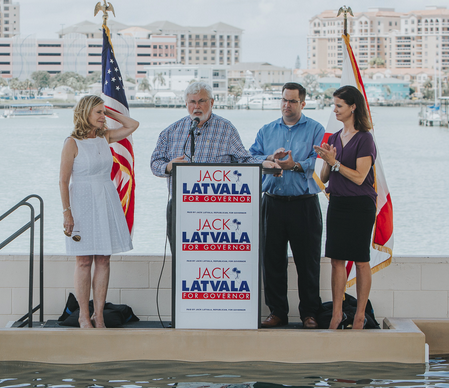Jack Latvala announces his candidacy for governor in Clearwater