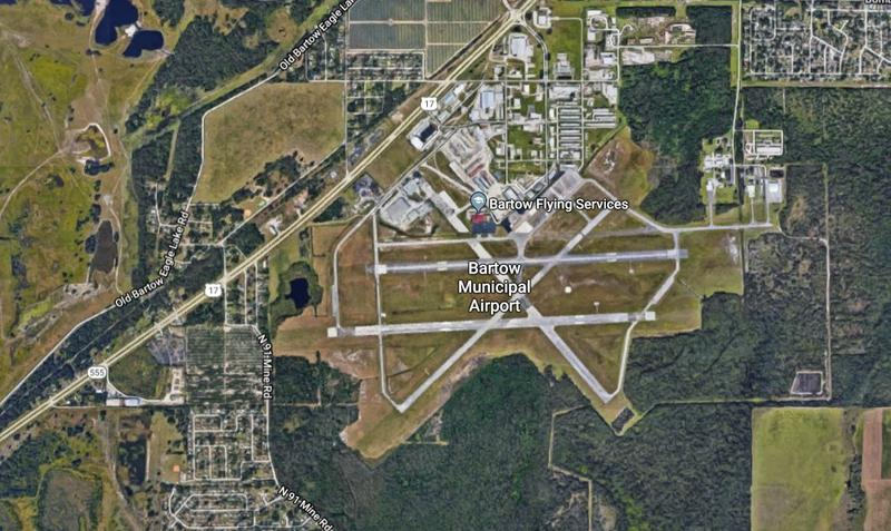 Bartow Municipal Airport is located in eastern Polk County off of U.S. Highway 17.
