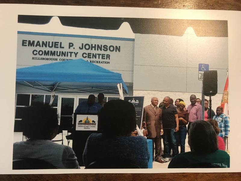 A photo of the Emmanuel P. Johnson Community Center when it first opened in 2016. WUSF chose this location to host our interview sessions for Telling Tampa Bay Stories: Progress Village.