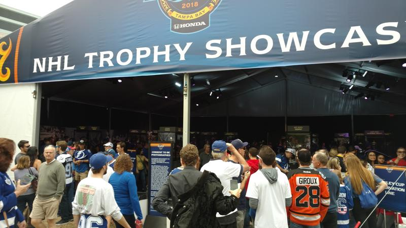 The NHL Trophy Showcase drew a consistent crowd throughout All-Star weekend.