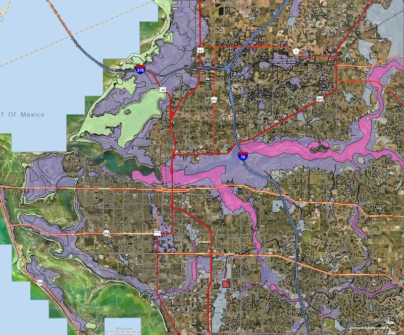 FEMA Flood Zone Map of Manatee County