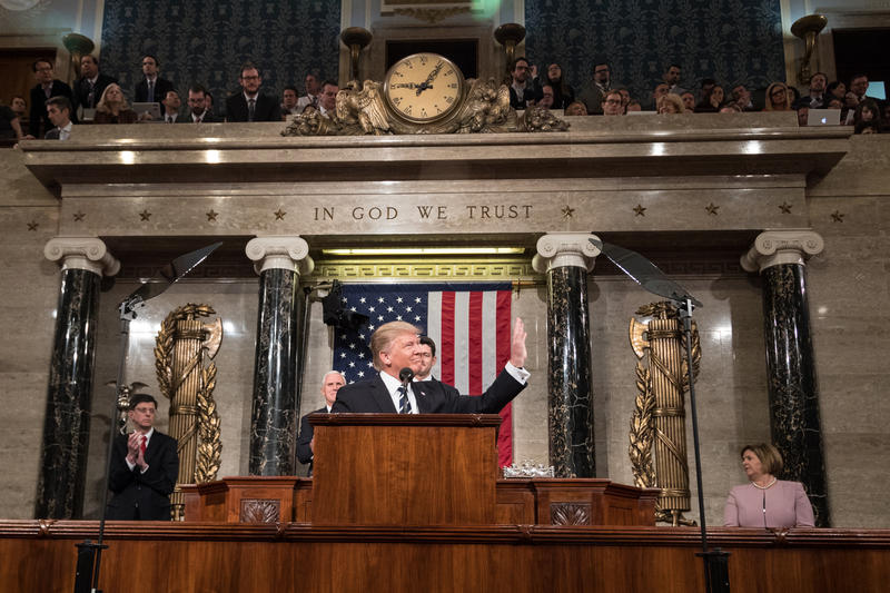 President Donald Trump spoke before a joint session of Congress a year ago. Tonight is his first State of The Union address.