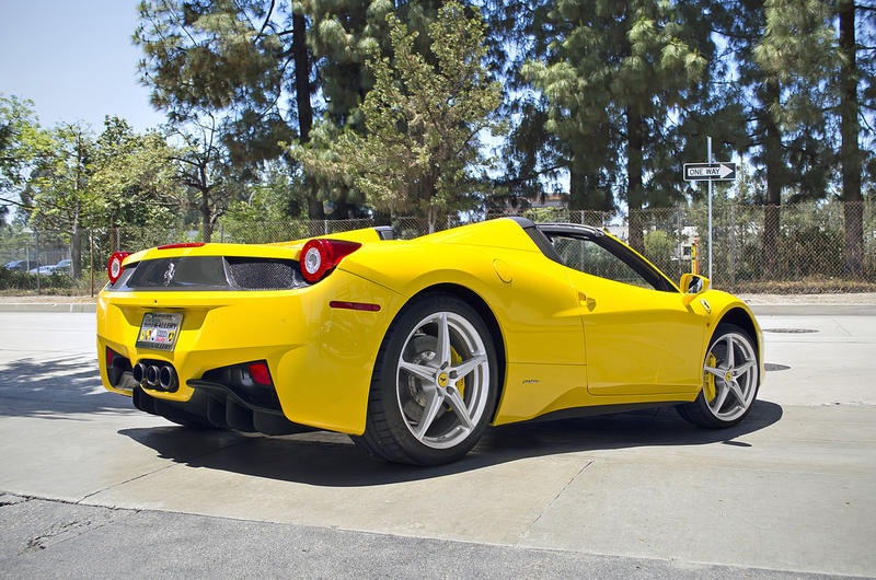 A Ferrari 458 Italia Spider like the one that was taken from the Vinoy in St. Petersburg.
