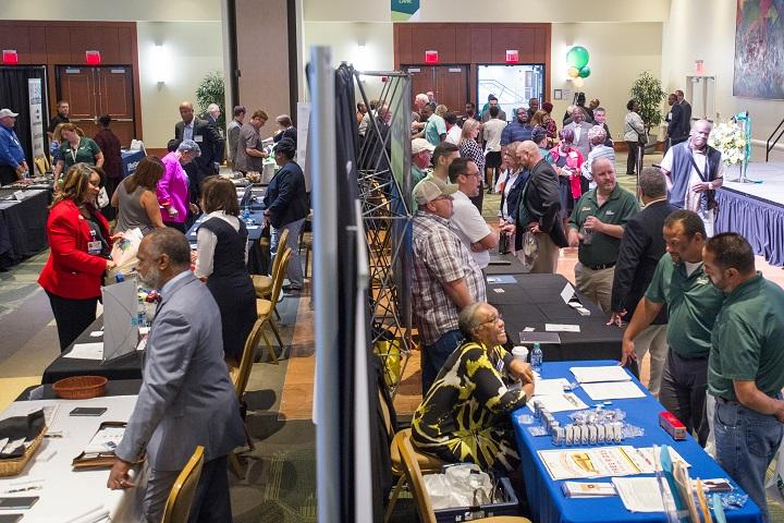 Over 60 minority-, women- and veteran-owned businesses attended USF's first annual Supplier Diversity Day on the USF Tampa campus in Oct. 2017.
