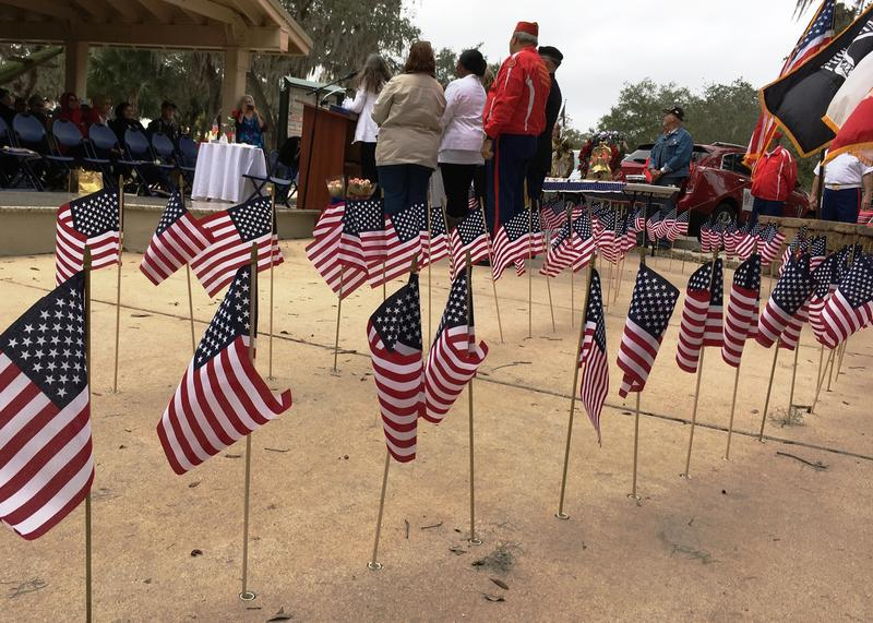 The Field of Honor is filled with flags, each representing an active-duty service member killed during the last three months of war and the fallen from WWII, Korea and Vietnam recently identified through DNA.