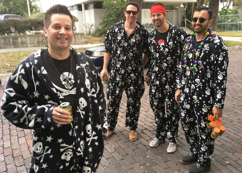 From pirate costumes to pirate onesies, Gasparilla is always a good time to see some unusual fashion. This year you may see plenty of hockey jerseys in the mix.