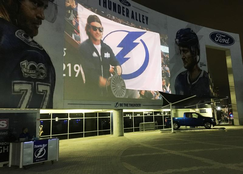 Thunder Alley is the plaza outside Amalie Arena, home to the Tampa Bay Lightning.