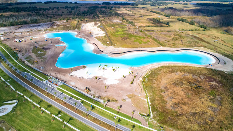 The first Crystal Lagoon in the U.S., a 7.5 acre manmade body of turquoise water, is being built in Wesley Chapel.