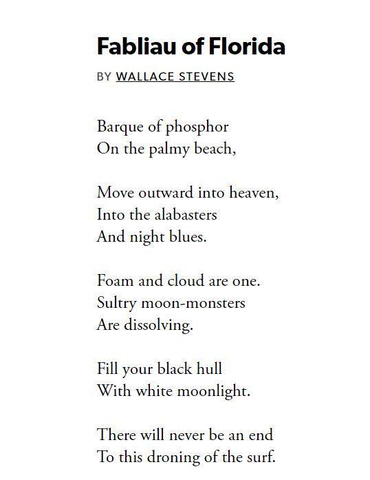 Wallace Stevens' Fabliau of Florida