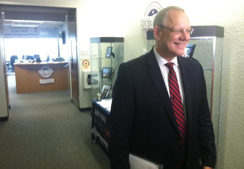 Ed Turanchik after he leaves the Supervisor of Elections office to qualify for mayor