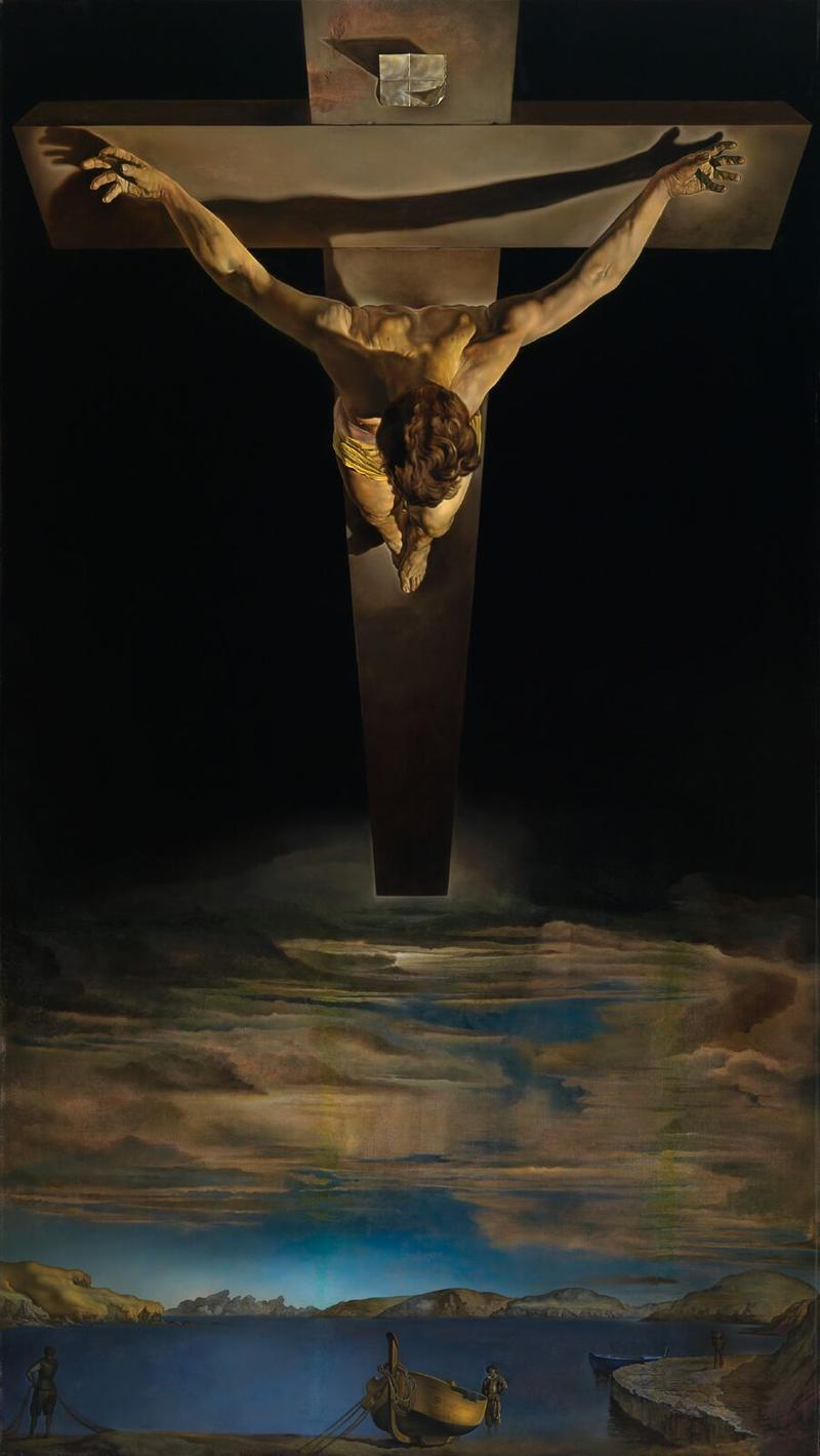 Salvador Dalí Christ of St John of the Cross, c. 1951 Kelvingrove Art Gallery and Museum © CSG CIC Glasgow Museums Collection
