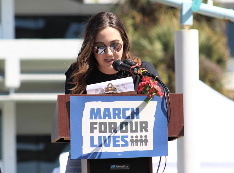 Madison Vogel, a student at Osceola High School, was the main organizer of Saturday's March For Our Lives in St. Petersburg.