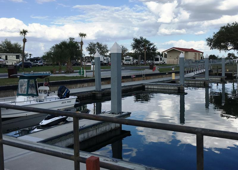 The marina is directly across the street from the main RV Family Camp at MacDill AFB.