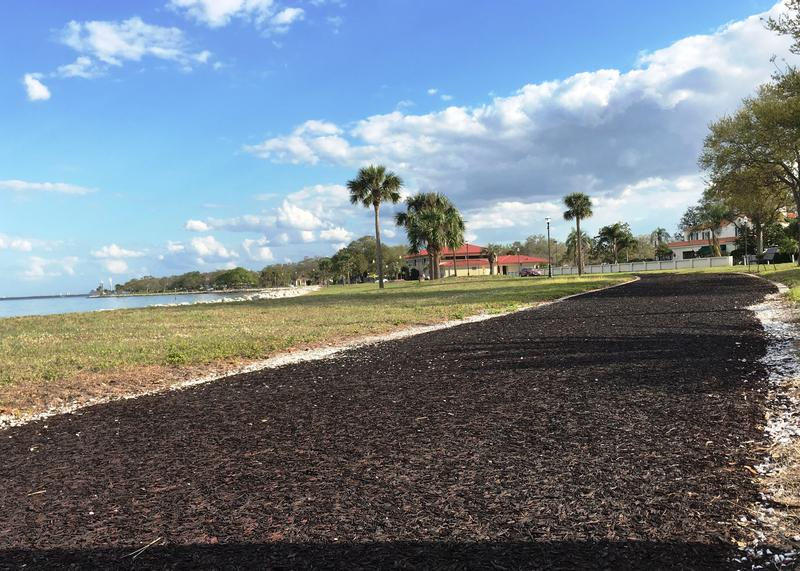 Water views are common for the many running paths on MacDill AFB.