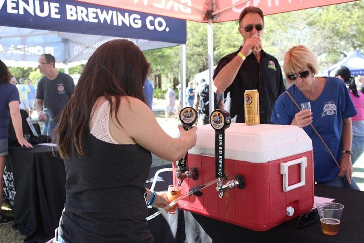 Tampa Bay Brew Bus offered samplings at the Florida Brewers Guild Craft Beer Festival at Cotanchobee Park in downtown Tampa. The event was part of Tampa Bay Beer Week.