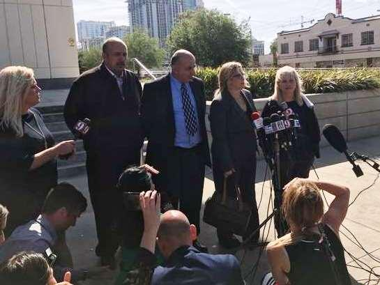 Noor Salman's family thanked the judge and jury outside the federal courthouse after the verdict.