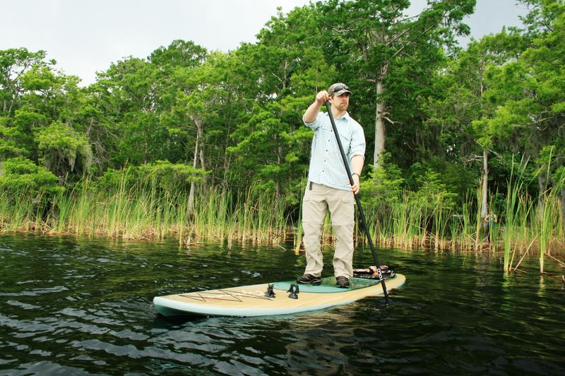 Expedition member Joe Guthrie on Lake Russell
