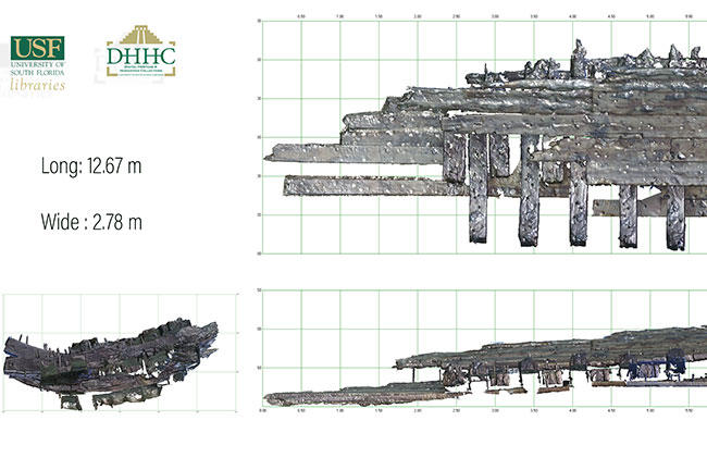 A completed scan of a portion of the shipwreck.
