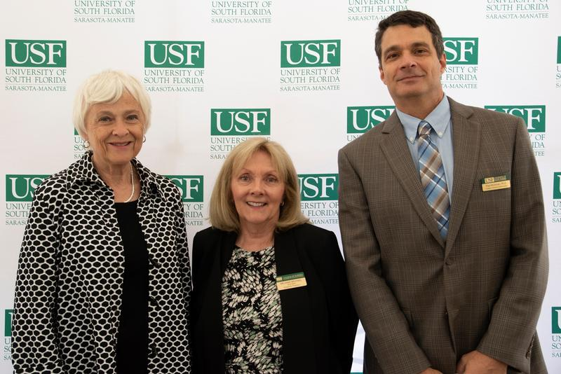 Dr. Holbrook, Dr. Michael and Dr. Paul Kirchman, Dean of USFSM College of Science & Mathematics.