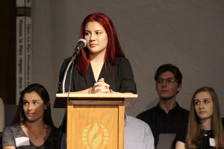 Marjory Stoneman Douglas High School student  Susana Matta Valdivieso asked Tampa Bay lawmakers to commit to concrete action on gun reform at the town hall on Saturday.