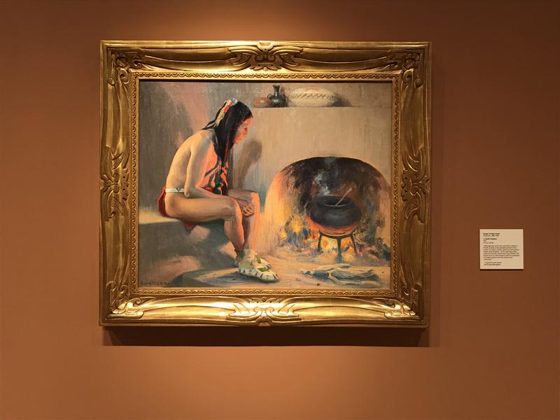 Many works of art in the museum depict Native American life. There's also a gallery devoted to Native American artists.