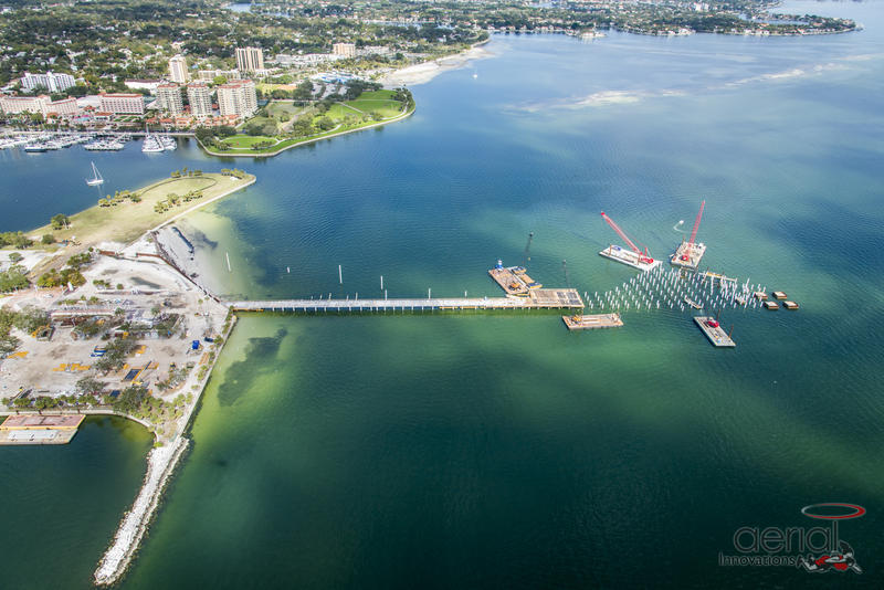 Aerial view of the new St.Pete pier