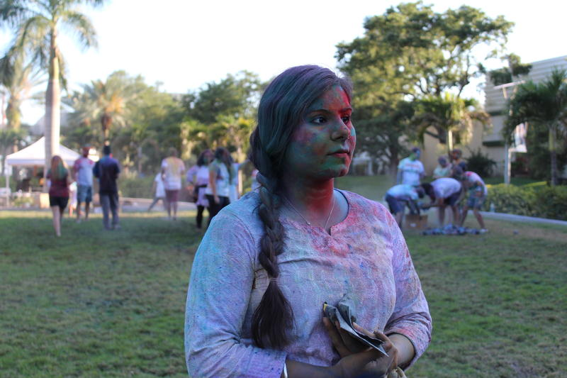 Radhika Dang, an American-born Indian USF St. Petersburg graduate student, began hosting Holi Hai, a spring Indian festival, to celebrate her culture. Despite being one of the most recognizable events on campus, she said she struggles to find funding.