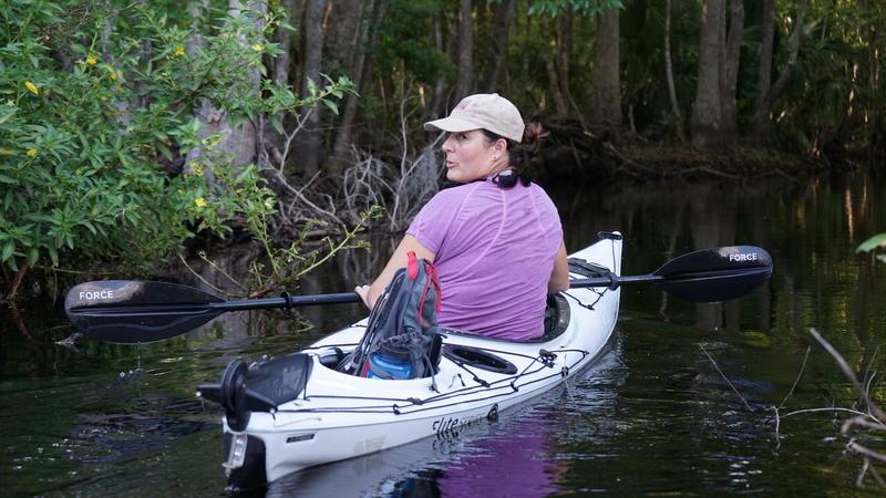 Mallory Lykes Dimmitt on Reedy Creek