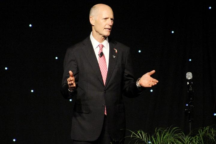 Governor Rick Scott headlined the event. He is running against U.S. Senator Bill Nelson for his seat.