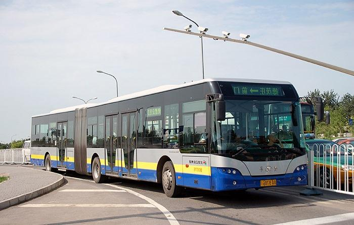 A BRT system in China