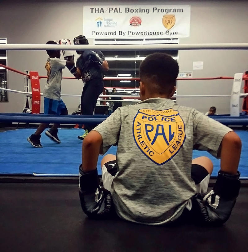 The Tampa Police Athletic League and The Tampa Housing Authority have teamed up to provide a free boxing and mentorship program to low-income boys and girls' ages 8-17. The league runs throughout the year in 10-week intervals.