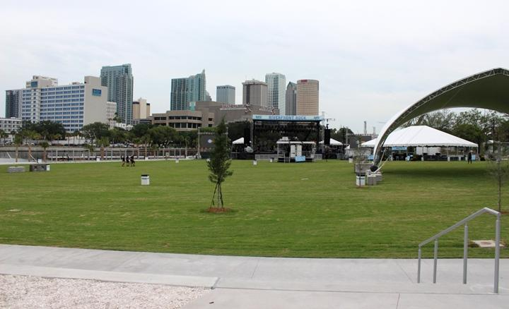 The new Julian B. Lane Riverfront Park sits on 25 acres of land on the west bank of the Hillsborough River.