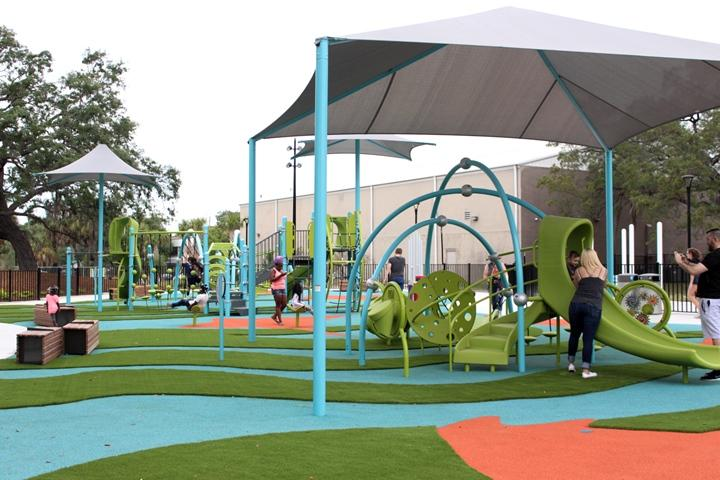 Ther park has a number of features for kids including a new playground.