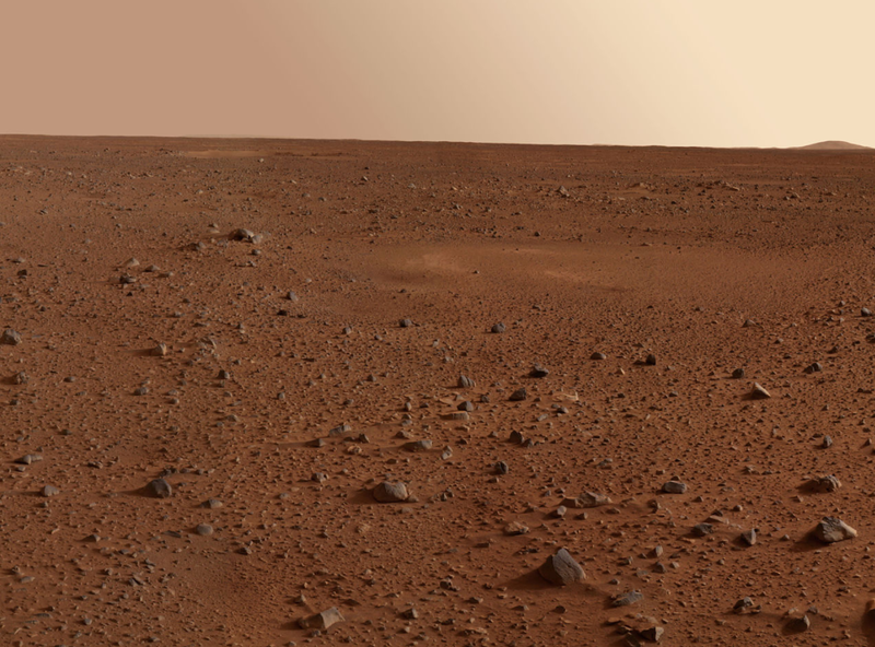 View of the Mars landscape by NASA's robotic probe Sprit.