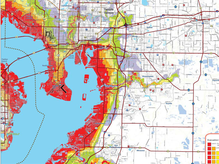 Pasco County Florida Map.Searchable Maps Show County Evacuation Zones Wusf News