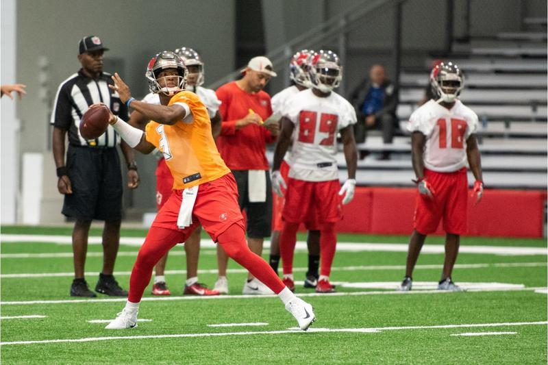 Tampa Bay Buccaneers quarterback Jameis Winston, seen practicing at the Bucs' recent minicamp, has been suspended 3 games for violating the NFL's personal conduct policy.