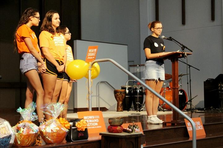 Students from the Pinellas County organization We The Students read poems by gun violence survivors from Miami and the Pulse shooting.