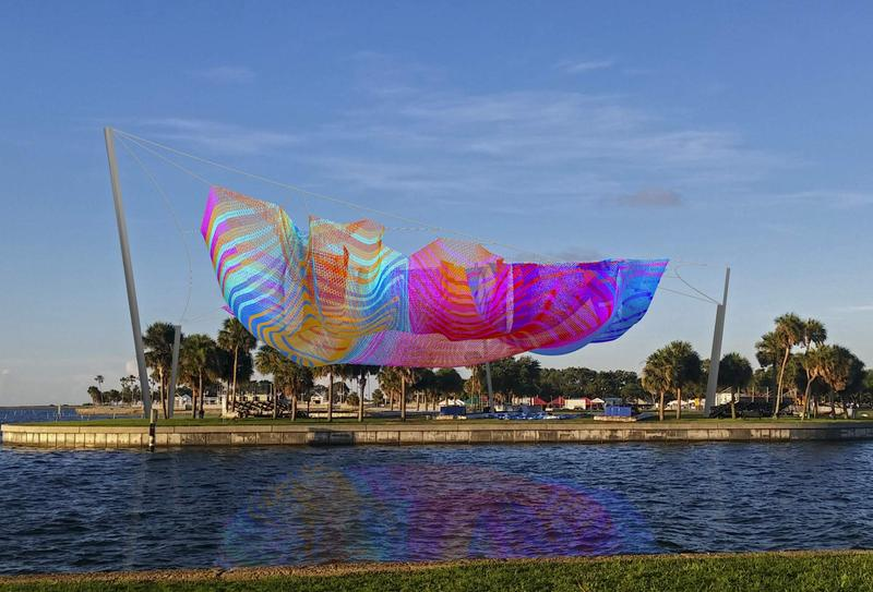 The mesh sculpture by renowned artist Janet Echelman is expected to cost around $3 million with $1.3 million of public funding.