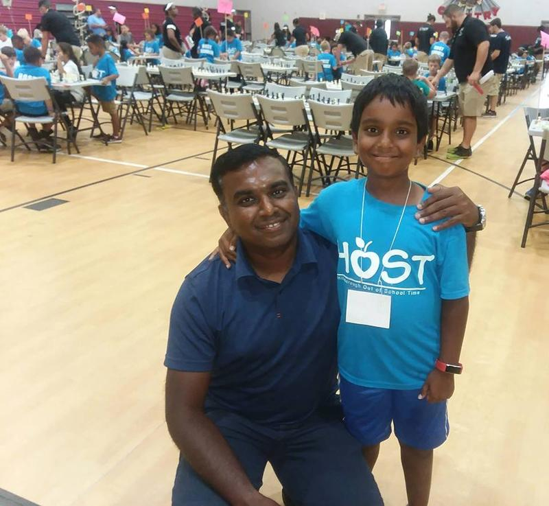 Bala Ramaswaamy came to Franklin Middle School in Tampa to cheer on his son Arjun, who will be entering third grade next school year. Arjun took 2nd place in his age division.