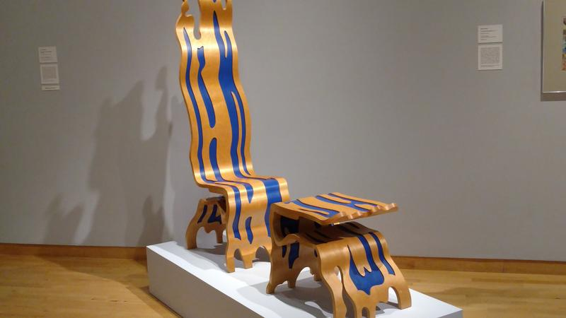 "Roy Lichtenstein's ""Brushstroke Chair and Ottoman"" is one of about 50 pieces on display at the USF Contemporary Art Museum's summer exhibition, ""Restricted."""