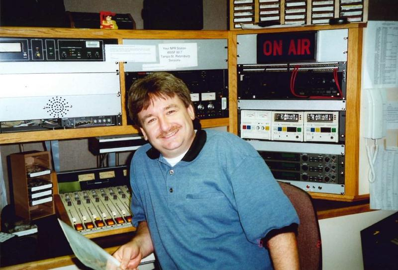 Carson Cooper in March 2000, just after he began hosting Morning Edition on WUSF.