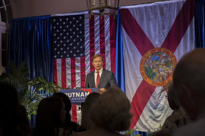 Adam Putnam gives his concession speech in Lakeland