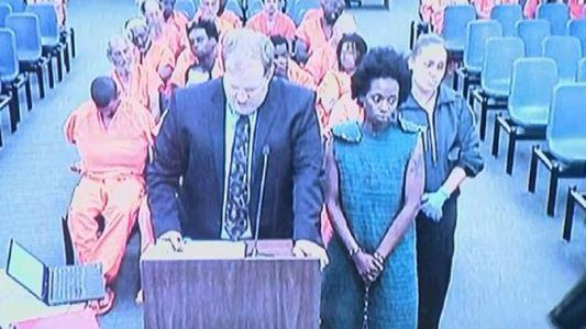 Shakayla Denson appears in Hillsborough County Court Friday morning. She's being held on no bond for allegedly drowning her four-year-old daughter in the Hillsborough River.