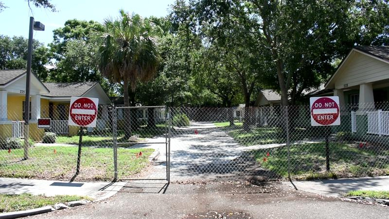 Historic Jordan Park Senior Village sits vacant and gated since May.