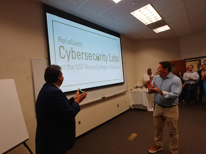 ...for the new ReliaQuest Cybersecurity Labs at the USF Muma Collee of Business.
