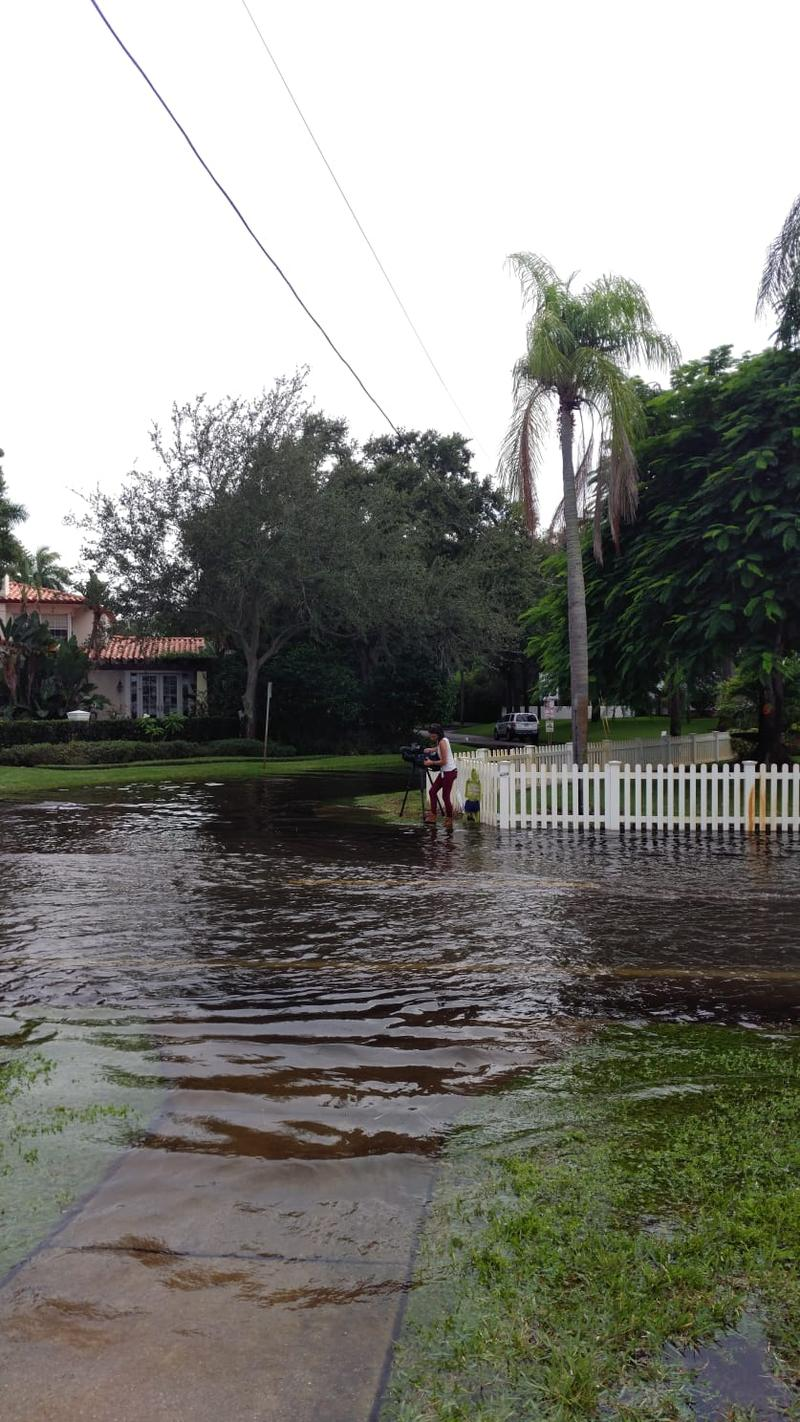Coffee Pot Boulevard flooding in St. Pete early Tuesday evening. with no wind or rain.